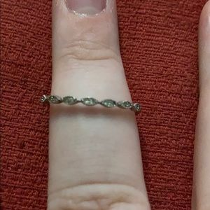Small diamond wedding band
